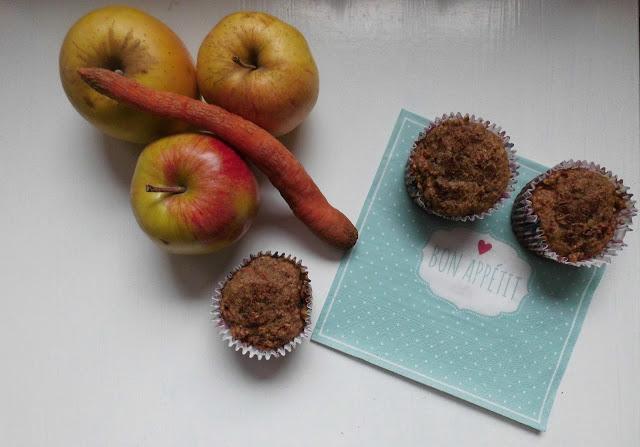 Muffiny marchwiowo- jabłkowe
