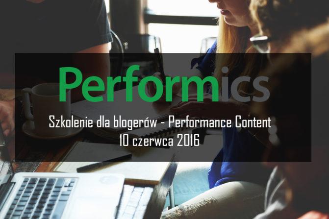 Szkolenie Performics