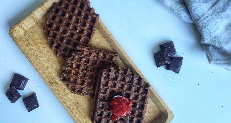 Przepis na zdrowe gofry czekoladowe