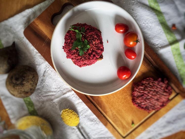 burgery z buraka i fasoli czerwonej